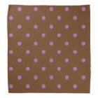 elegant purple brown polka dots bandana