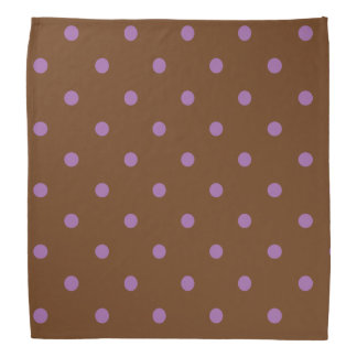 elegant purple brown polka dots bandana