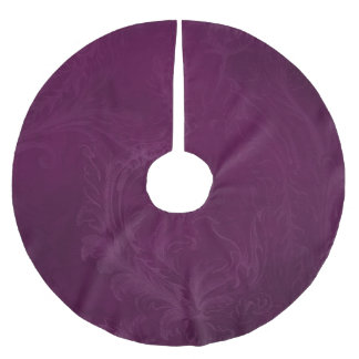 Elegant Purple Brushed Polyester Tree Skirt