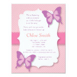 Elegant Purple butterfly baby shower Personalised Invitations