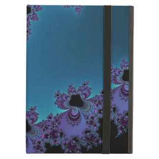 Elegant Purple Cyan Monogram Fractal iPad Air Cases