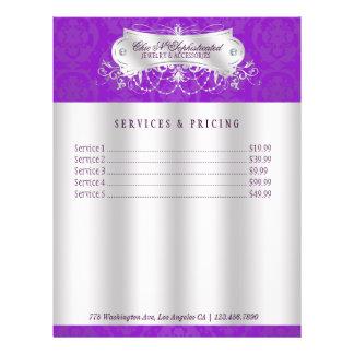 Elegant Purple Damask Swirl Flyer