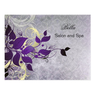 elegant purple flourish business ThankYou Cards Postcard
