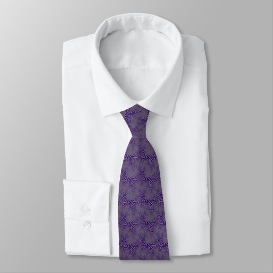 Elegant purple fractal design tie