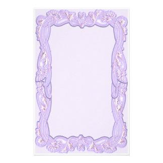 Elegant Purple Framed Stationery Design