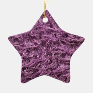 Elegant Purple Fur Christmas Ornament