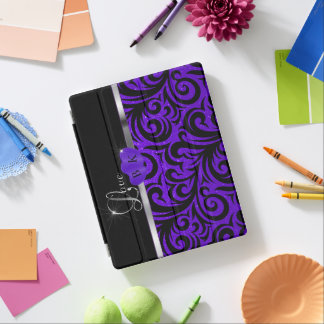 Elegant Purple Glitter Love iPad Cover