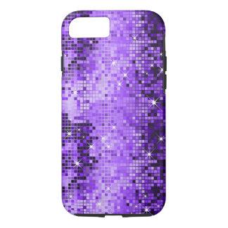 Elegant Purple Glitter Metallic Sequence iPhone 7 Case