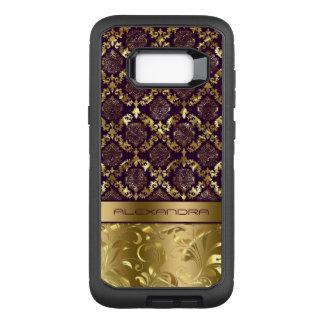 Elegant Purple & Gold Dalasks Metallic Texture OtterBox Defender Samsung Galaxy S8+ Case