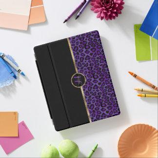Elegant Purple Leopard Skin iPad Cover