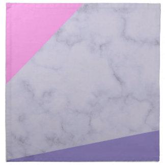 elegant purple marble pink purple color block napkin