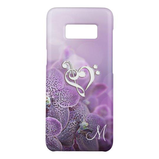 Elegant Purple Music Clef Heart Case-Mate Samsung Galaxy S8 Case