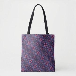 Elegant Purple Pink Diamond Pattern Tote Bag