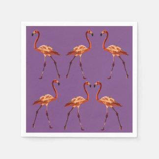 Elegant Purple Pink Flamingo  Napkins Paper Serviettes