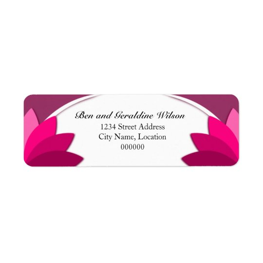 Elegant Purple Pink Florals Template Return Address Label