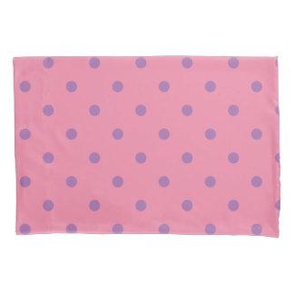 elegant purple pink polka dots pillowcase