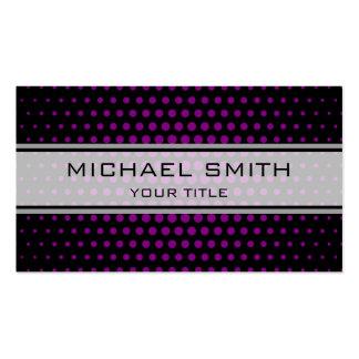 Elegant Purple Polka Dot Pattern Pack Of Standard Business Cards