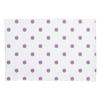 elegant purple polka dots pillowcase