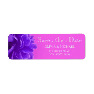 Elegant Purple Raspberry Floral Save The Date