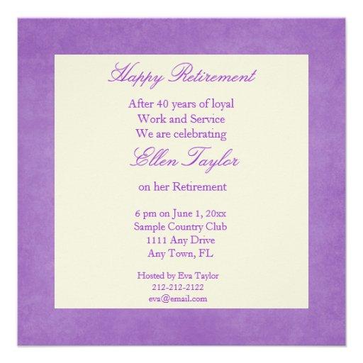 Elegant Retirement Invitations with adorable invitation design