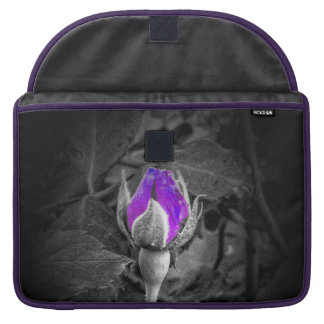 Elegant Purple Rosebud Color Splash Sleeves For MacBooks