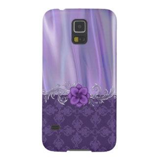 Elegant Purple Satin and Damask Samsung Galaxy S5 Galaxy S5 Case