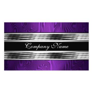 Elegant Purple Silver Black 2 Business Card Templates