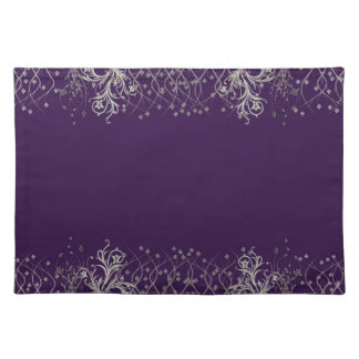 Elegant Purple/Silver Placemat