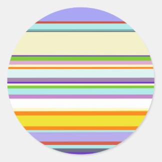 Elegant Purple Stripe Pattern Round Stickers