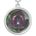 Elegant Purple Tulip Class of Graduation Necklace