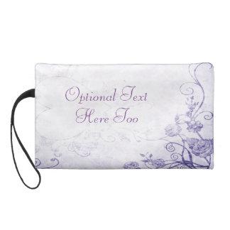 Elegant Purple Vintage Wristlet Clutch
