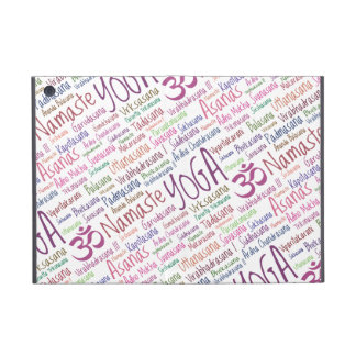 Elegant Purple Yoga Positions Word Cloud Pattern Case For iPad Mini