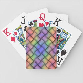 Elegant Rainbow Colored Card - Diagonal Weave2