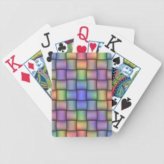Elegant Rainbow Colored Card - Horizontal Weave