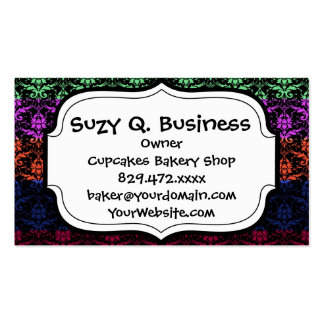 Elegant Rainbow Colorful Damask Fading Colors Pack Of Standard Business Cards