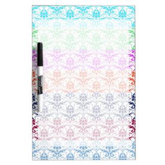 Elegant Rainbow Colorful Damask Fading Colors Dry-Erase Whiteboards