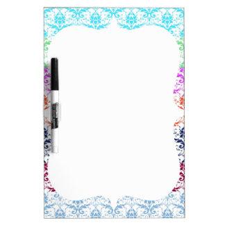 Elegant Rainbow Colorful Damask Fading Colors Dry-Erase Whiteboard