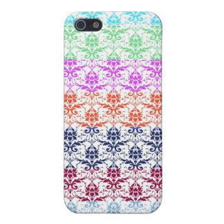 Elegant Rainbow Colorful Damask Fading Colors iPhone 5/5S Cover