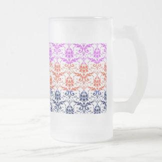 Elegant Rainbow Colorful Damask Fading Colors Coffee Mugs