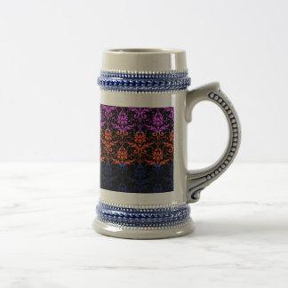 Elegant Rainbow Colorful Damask Fading Colors Mug