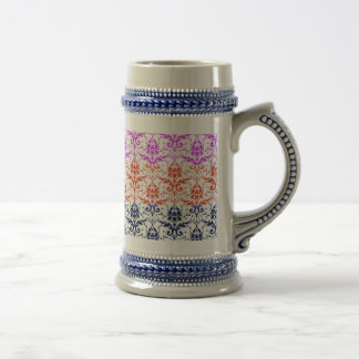 Elegant Rainbow Colorful Damask Fading Colors Coffee Mug