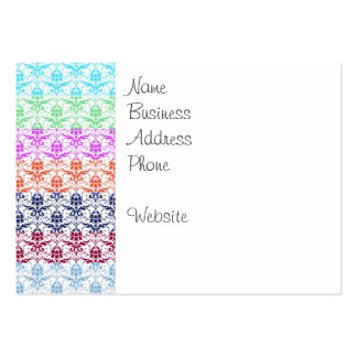 Elegant Rainbow Colorful Damask Fading Colors Pack Of Chubby Business Cards