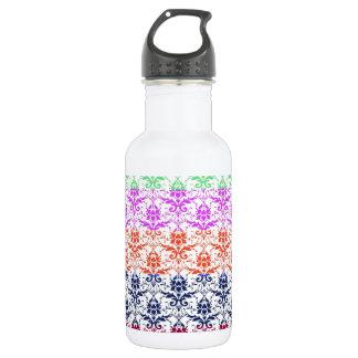 Elegant Rainbow Colorful Damask Fading Colors 532 Ml Water Bottle