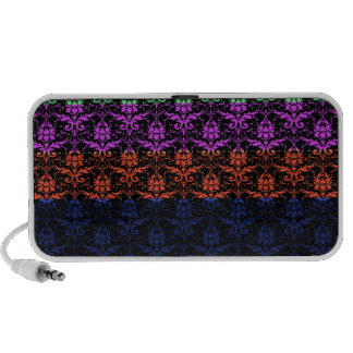 Elegant Rainbow Colorful Damask Fading Colors Portable Speakers