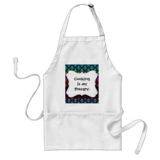 Elegant Rainbow Colorful Damask Fading Colors Standard Apron