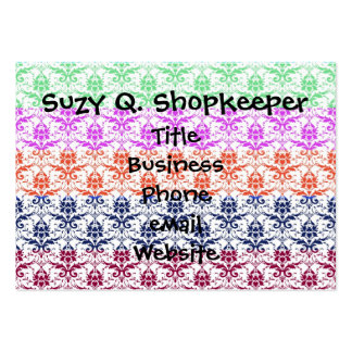 Elegant Rainbow Colourful Damask Fading Colours Pack Of Chubby Business Cards