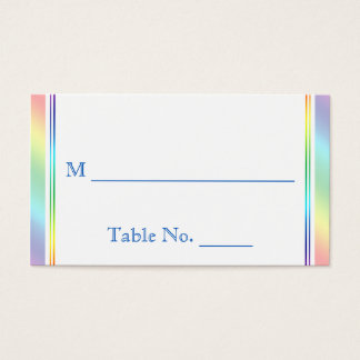 Elegant Rainbow Floral Gay Wedding Place Cards