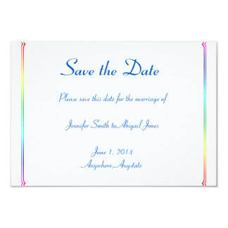 Elegant Rainbow Floral Gay Wedding Save the Date Card