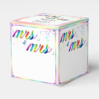 Elegant Rainbow Floral Wedding Favor Box