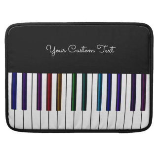 Elegant Rainbow Piano Music Personalized Sleeves For MacBook Pro